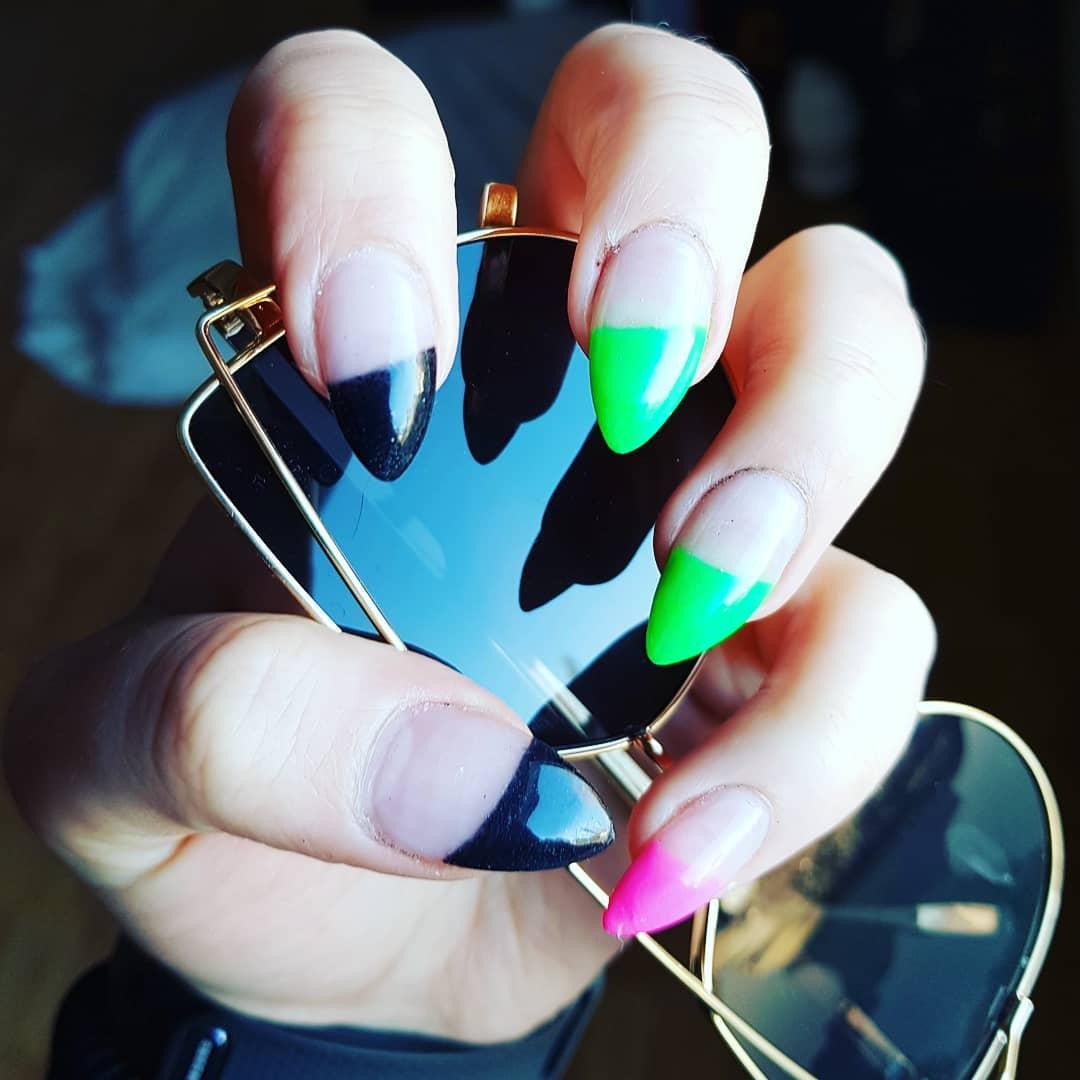 Acrylic Colorful Stiletto Nails