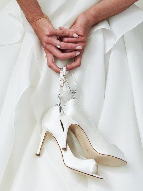 Adorable White Wedding Shoe