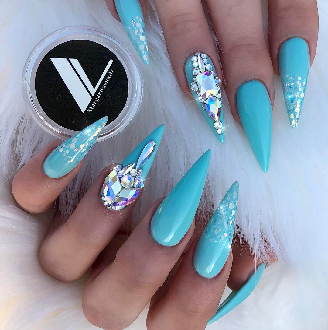 55 Stiletto Nail Art Ideas For Ultimate Fashion Trend | CollageCab