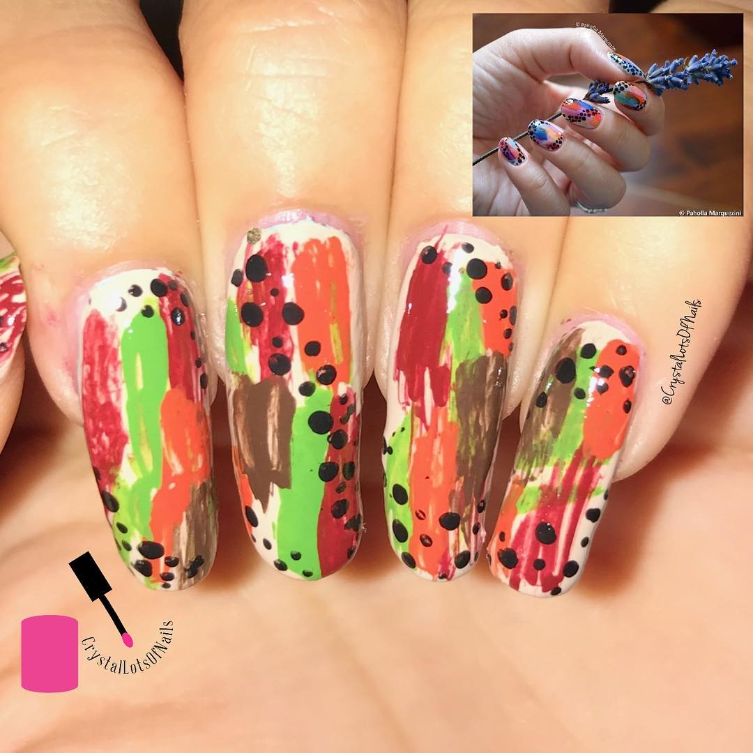 Artistic Polka Dots Colorful Nails