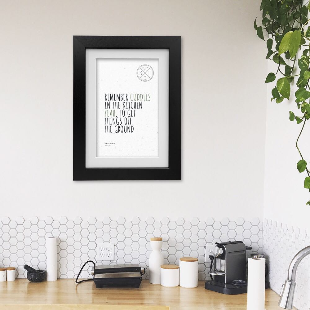 Awesome Black And White Hexagon Wall Decor Apt For Kitchen