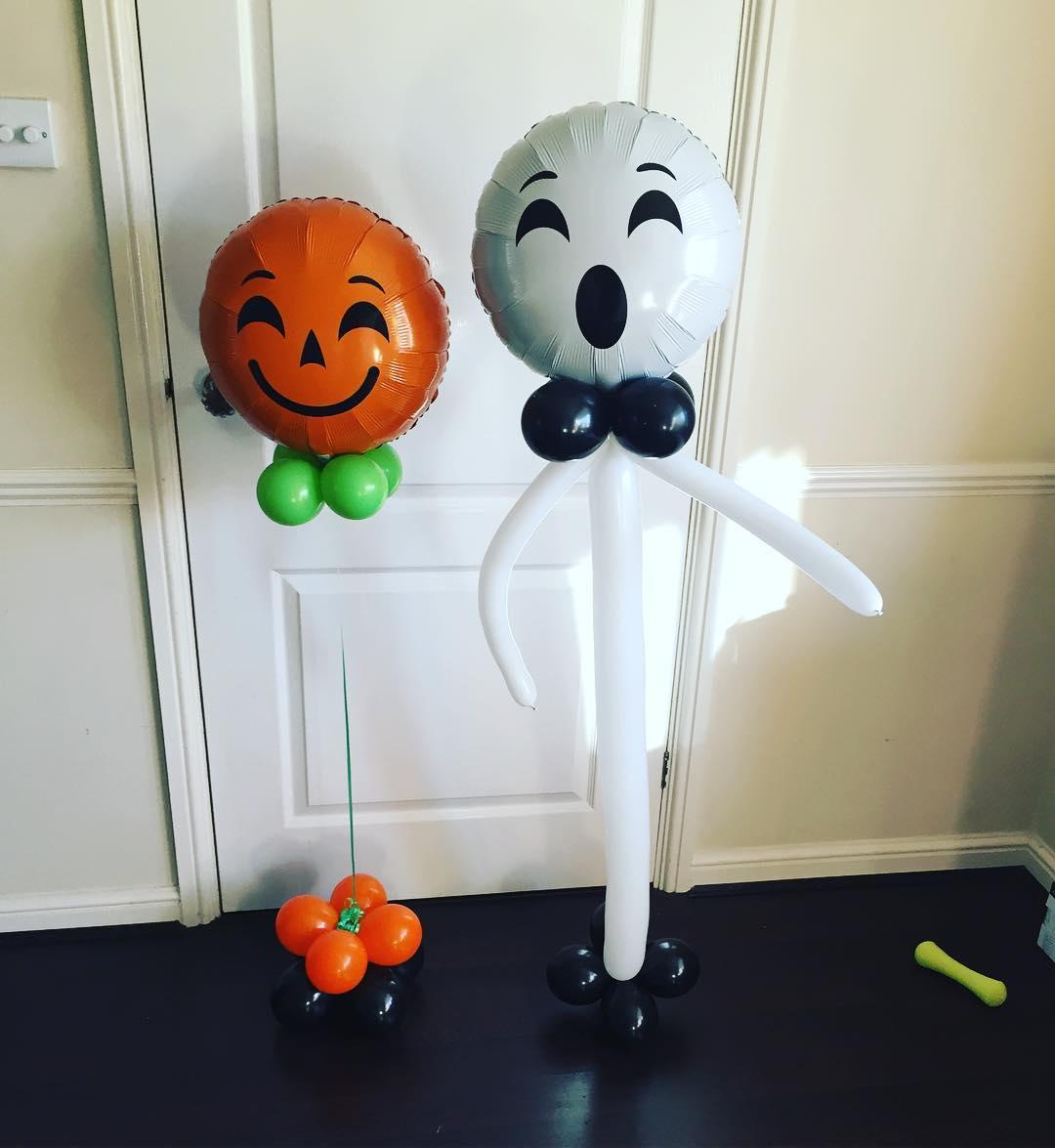 Beautiful Pumpkin And Ghost Bespoke Balloons