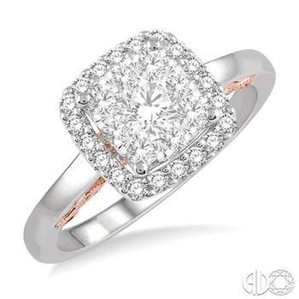 Beautiful Square Cut Engagement Ring