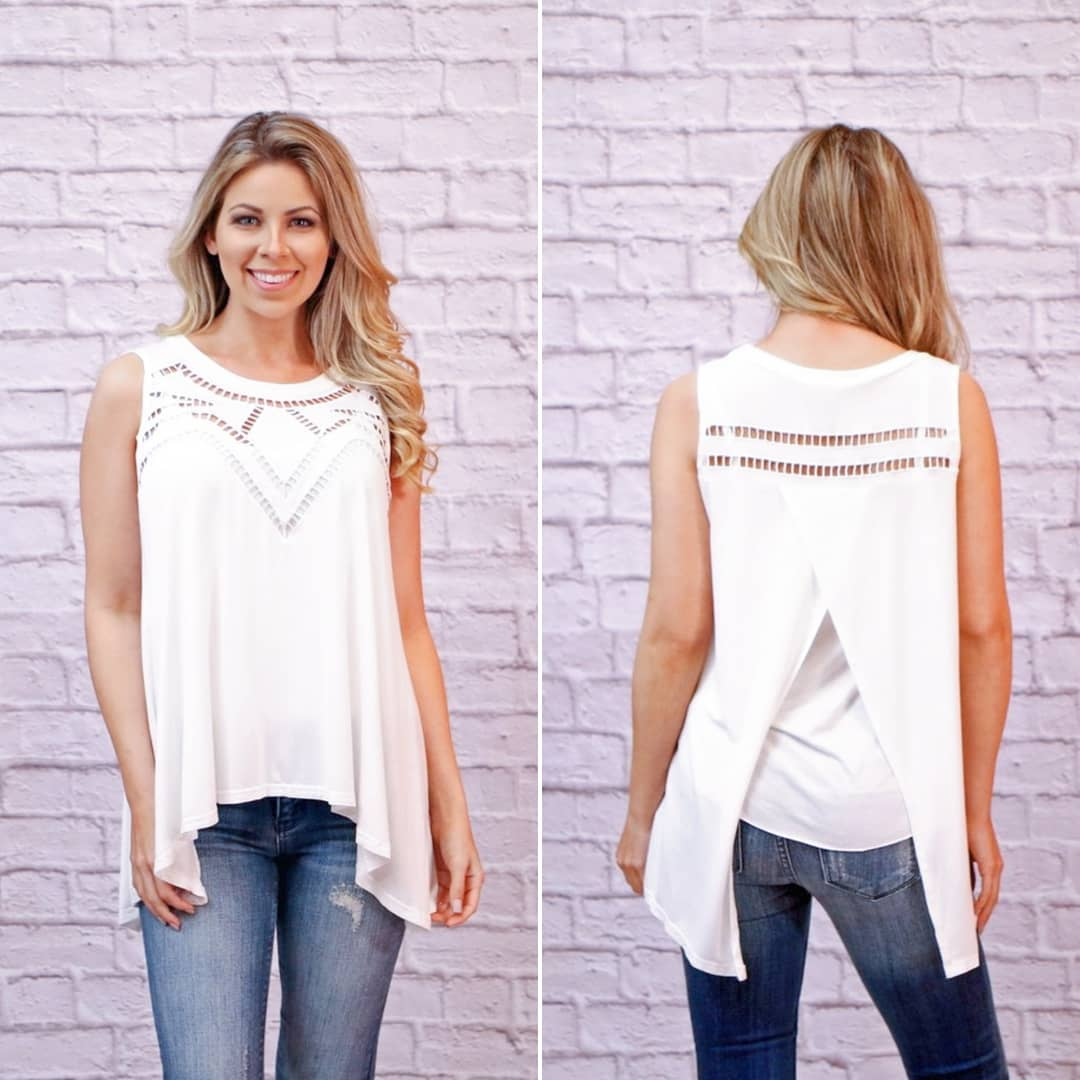 Breezy White Top Paired With Jeans