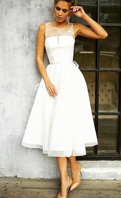Captivating Short Bridal Wear