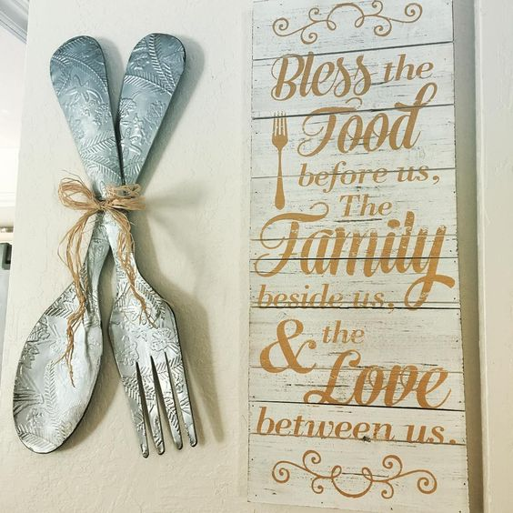 Cool Fork And Spoon Decor For Kitchen Wall