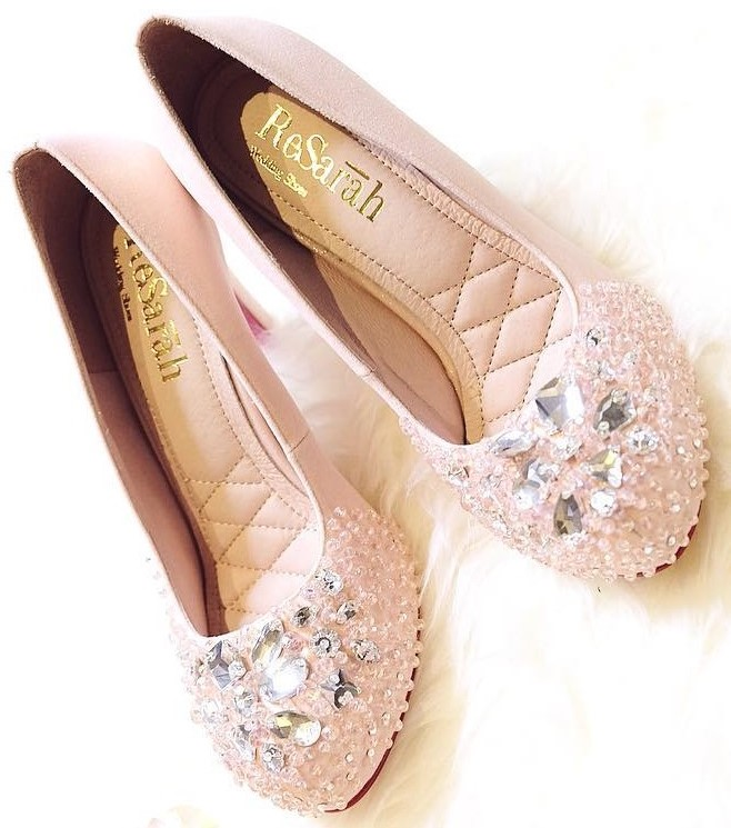 Crystal Studded Comfortable Bridal Shoes