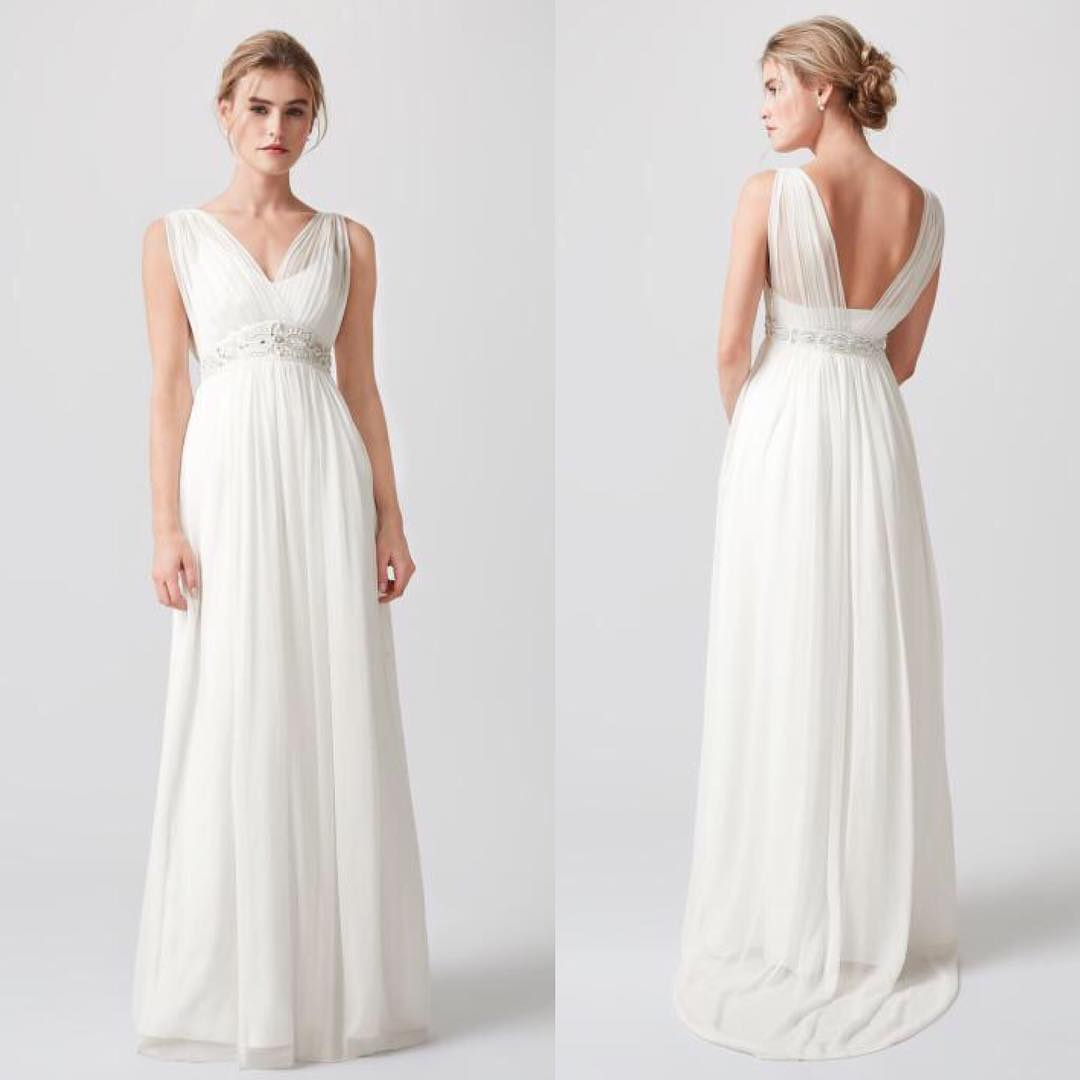Cute A-Line Summer Season Inspired Wedding Outfit