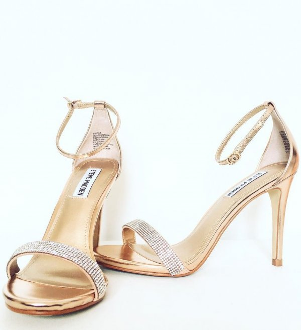 Dashing Fancy Open Toe Wedding Shoes With Embellished Straps