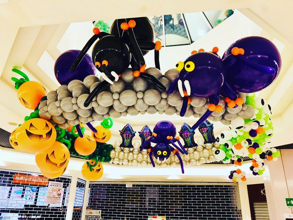 Dashing Halloween Party Balloons Decor With Spider, Pumpkin And Ghost