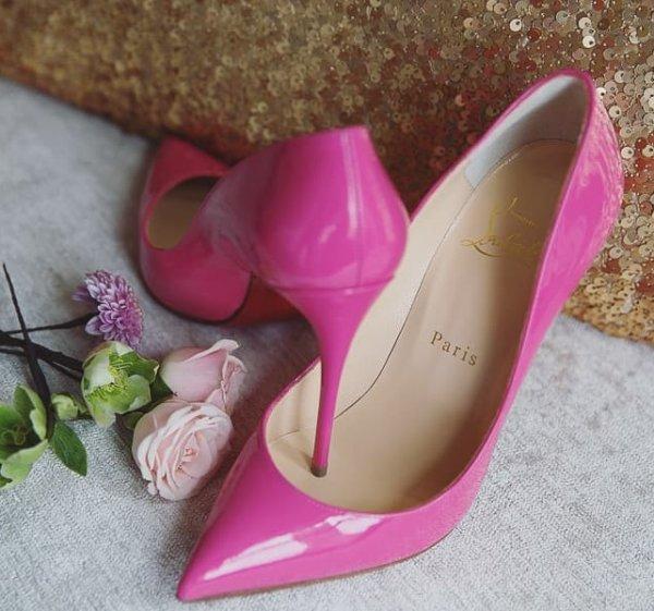 Elegant Pink High Heel Bridal Shoes