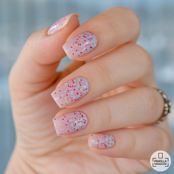Fabulous Polka Dots Square Nails