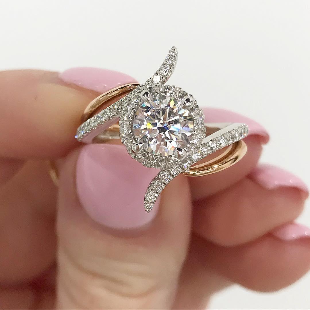 Fashionable New Fold Engagement Ring
