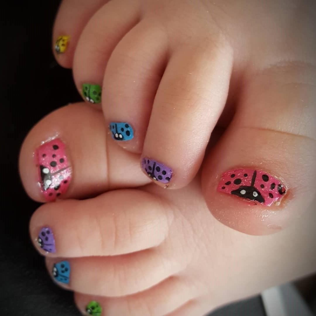 Funky Ladybug Nail Art