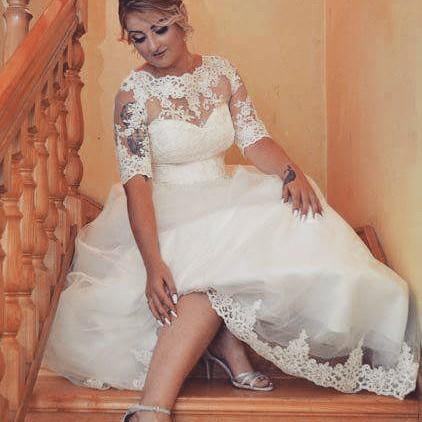 Glamorous Wedding Gown For Curvy Women