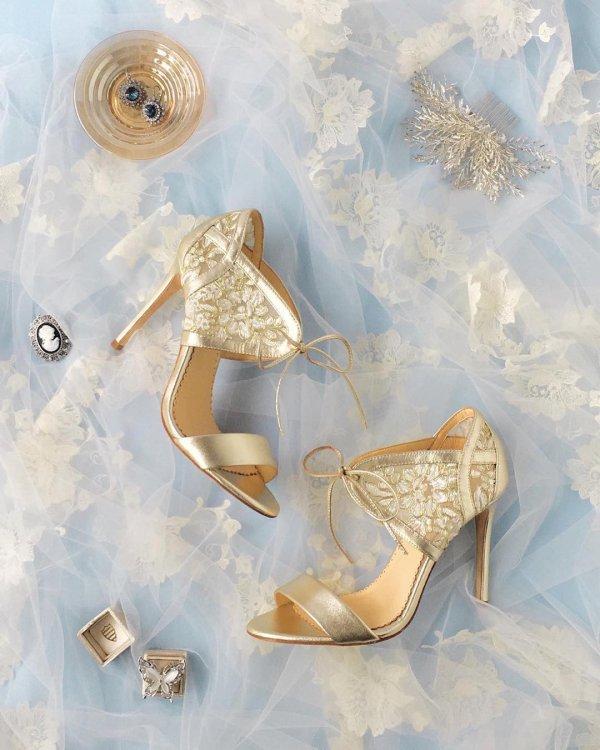 Glimmer Golden Wedding Shoes