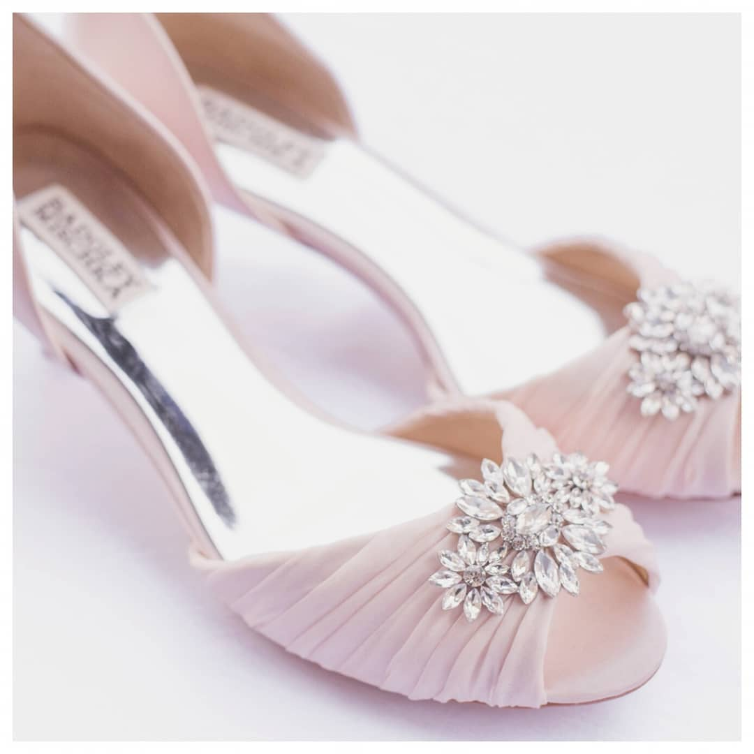 Graceful Pink Shoes With Embellishments