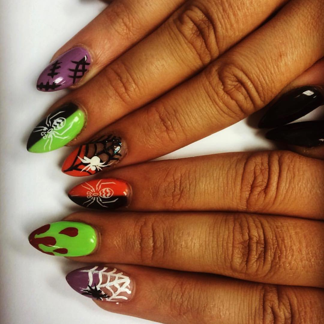 Iconic Spider Web Halloween Nails
