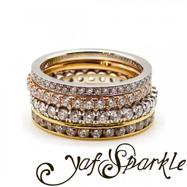 Innovative Rose Cut Diamonds Stacked With A Stunning Diamond Band