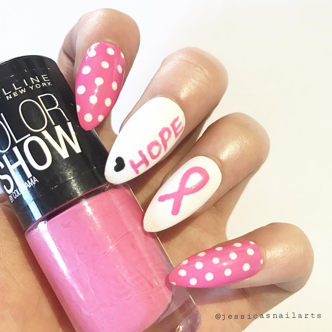 Innovative breast cancer awareness nails