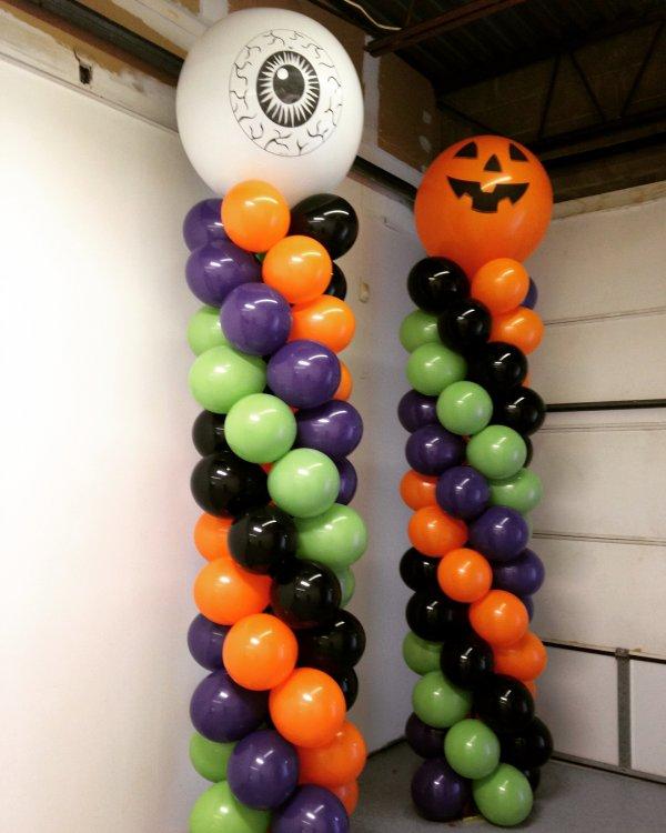 Long Island Of Balloons Columns With Big Eye