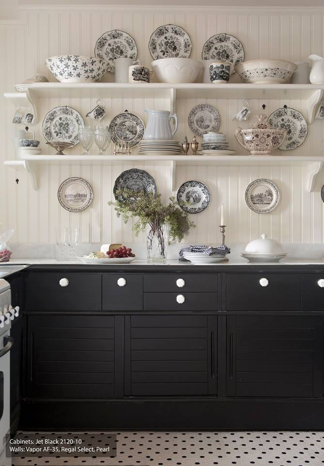 Lovely Kitchen Wall Is Decorated With Plates