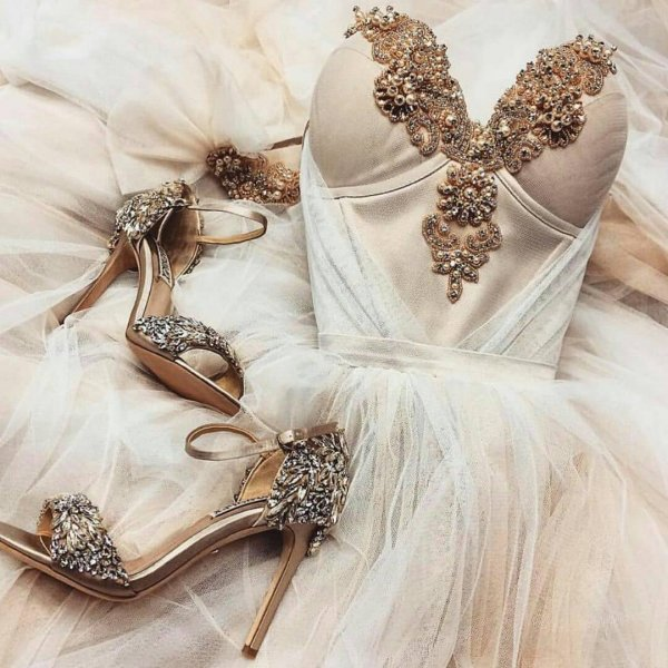 Lovely Rose Gold Pump Shoes For Bridal Wear