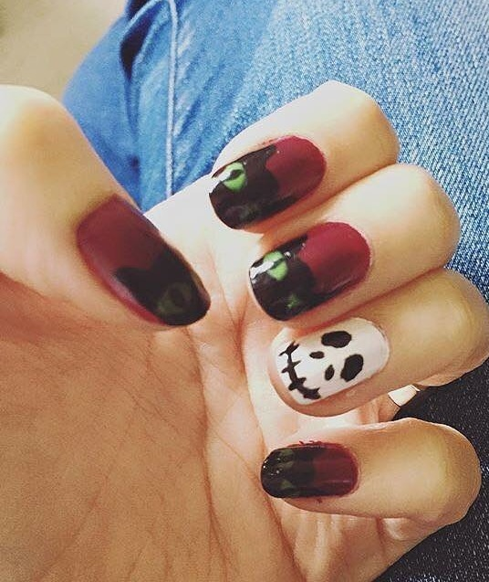 Marvellous Scary Day Halloween Monsters Nail Art