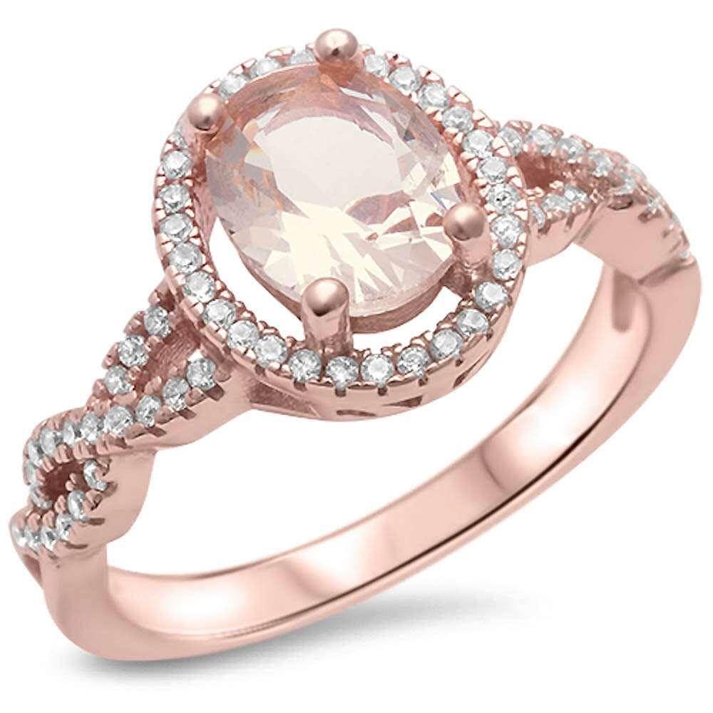 Mesmerize Rose Gold Diamond Engagement Ring