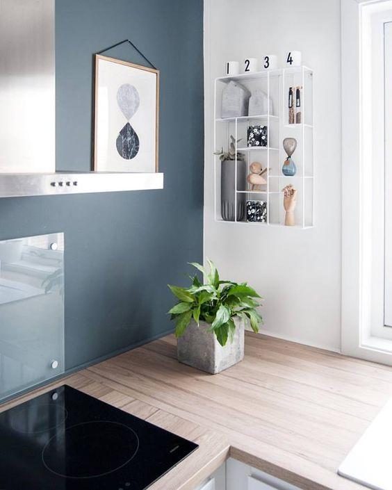 Metal Shelf In Kitchen Enhance The Look