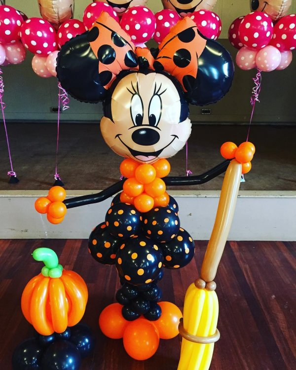 34 minnie mouse balloons decor for halloween party via