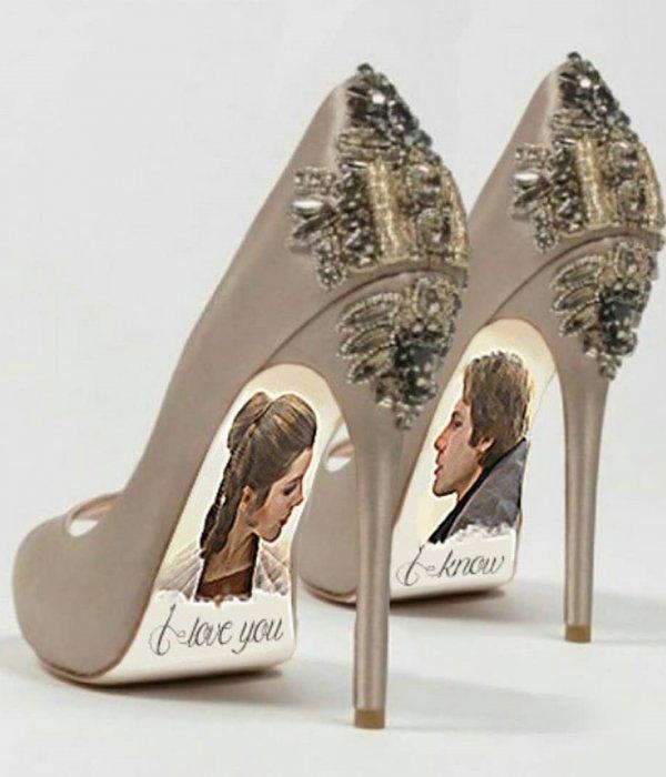 Nude Entwined High Heeled Wedding Shoe