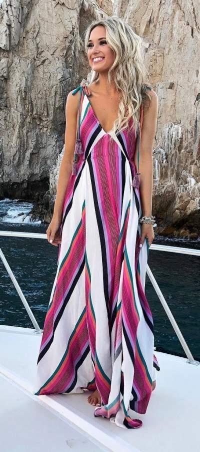 Pretty Stripes Maxi Dress