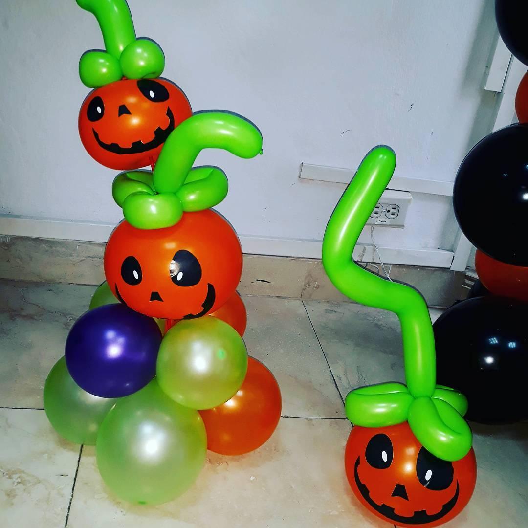 Pumpkin And Ghost Halloween Balloon Decor