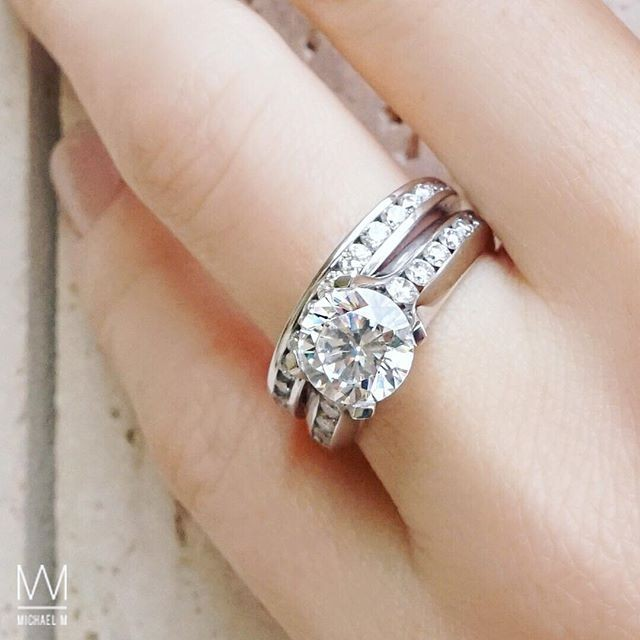 Rose Cut Diamonds Stacked With A Stunning Diamond Band