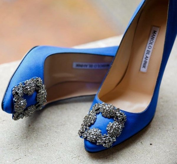 Royal Blue Pumps With Embellishment