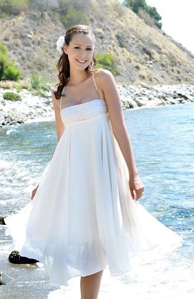 Sassy Short Beach Wedding Dress