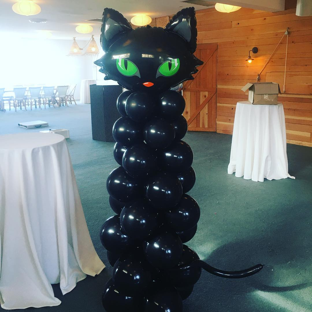 Scary Balloon Kitty For Halloween Party