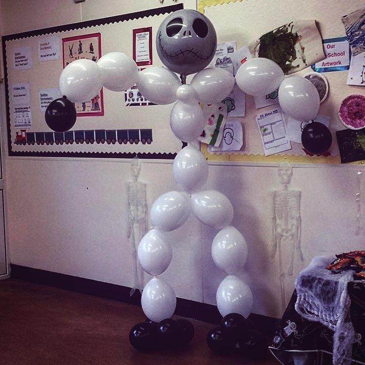 Skeleton Bubble Balloons For Halloween