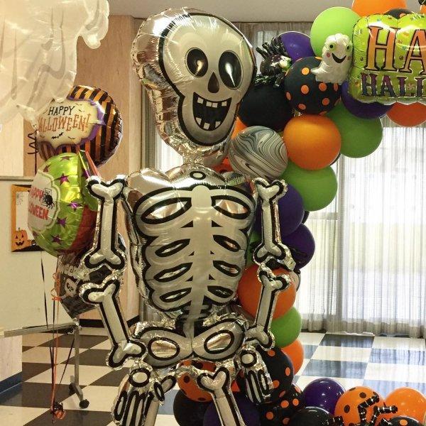 Skull Microfoil Balloon Decor For Halloween