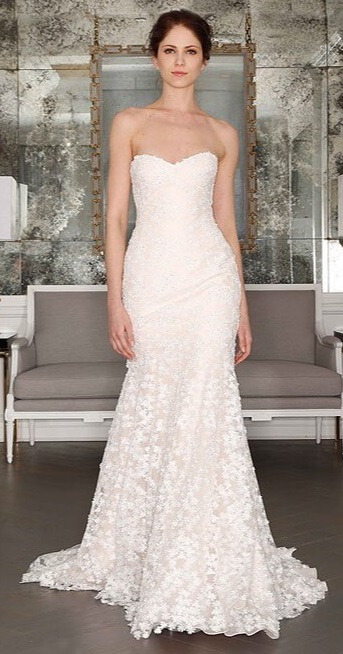 Striking Off The Shoulder Lacy Mermaid Style Bridal Gown