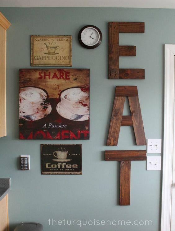 Stunning Alphabet Kitchen Wall Decor