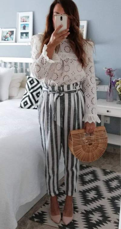 Stylish Top And Stripes Pant