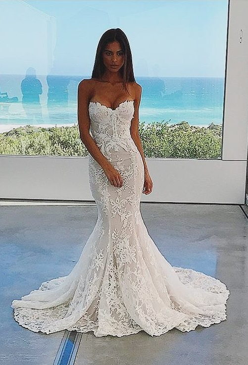 Sunset Charming Wedding Gown In Mermaid Style