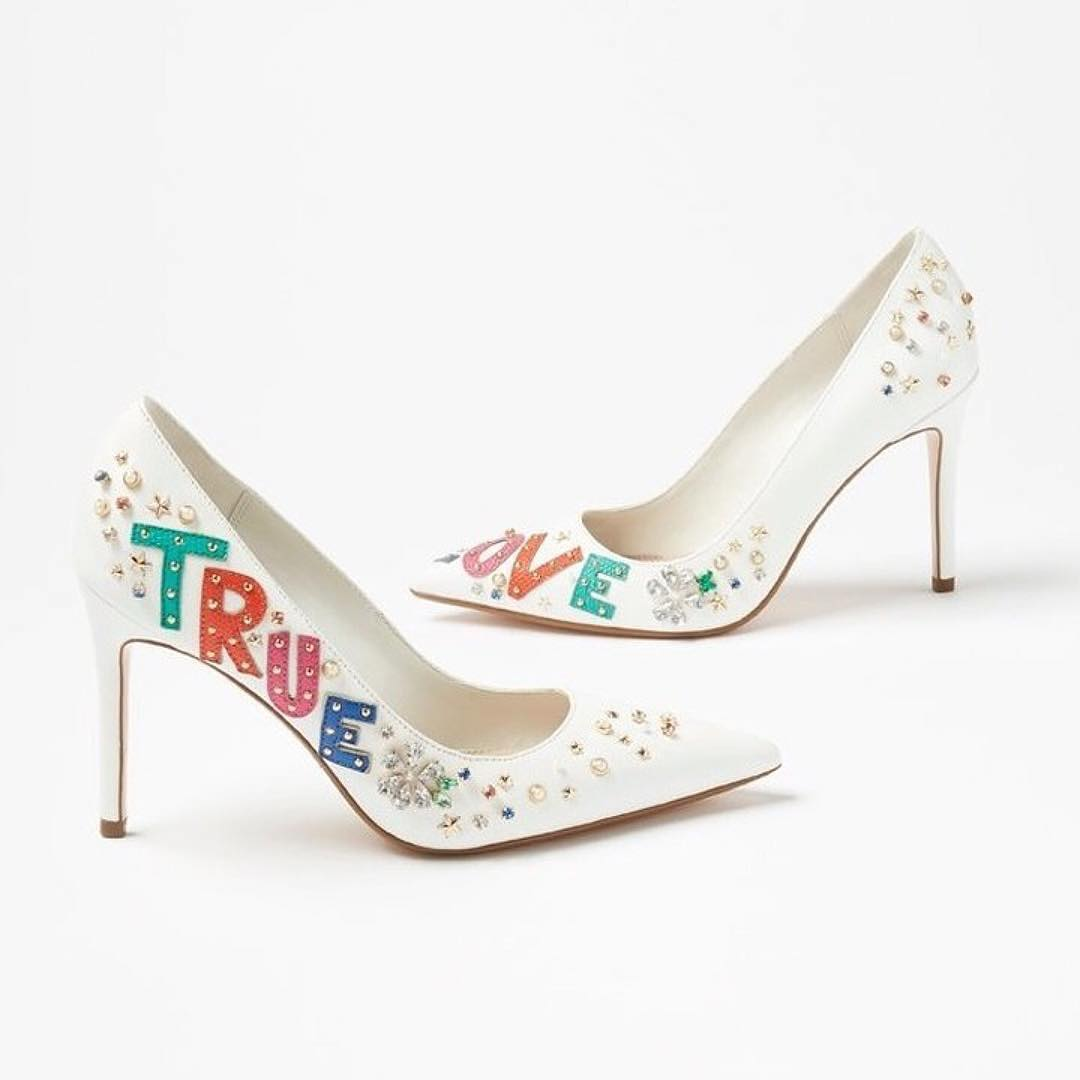 True Love Off White Wedding Heels