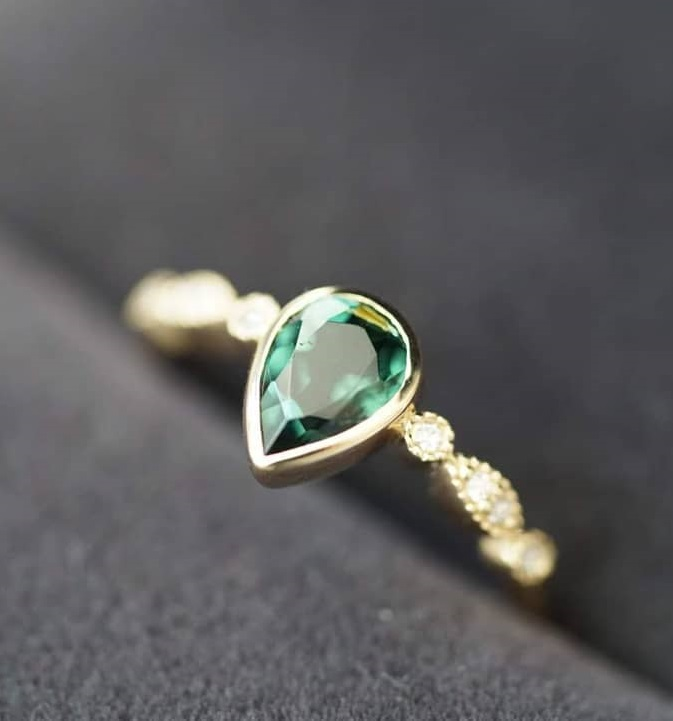 Ultimate Green Tourmaline Ring In Gold