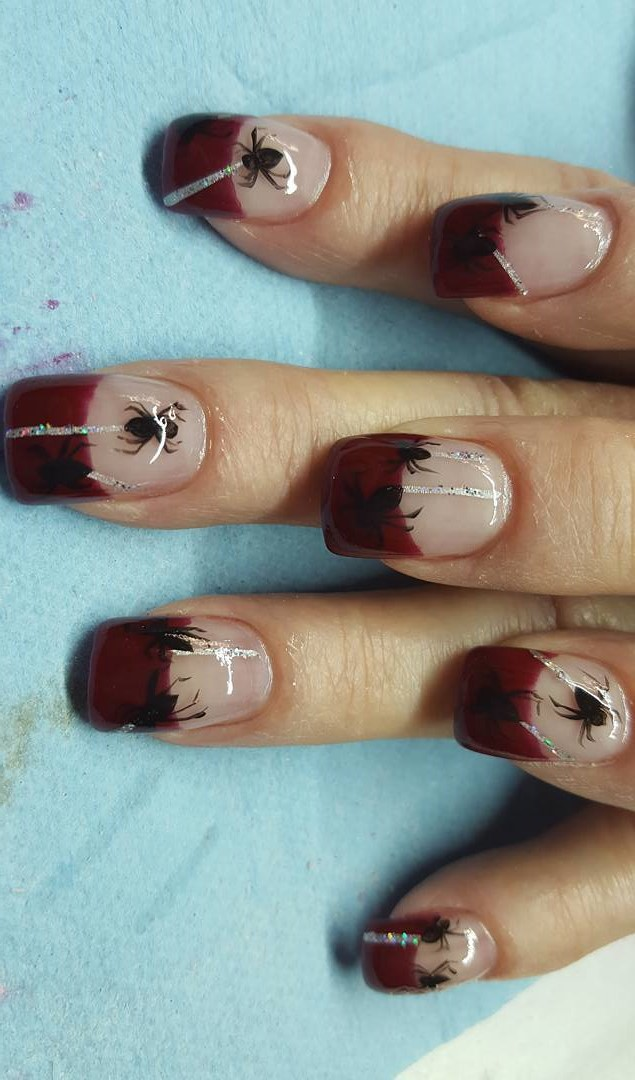 Vampire Nails With Spider