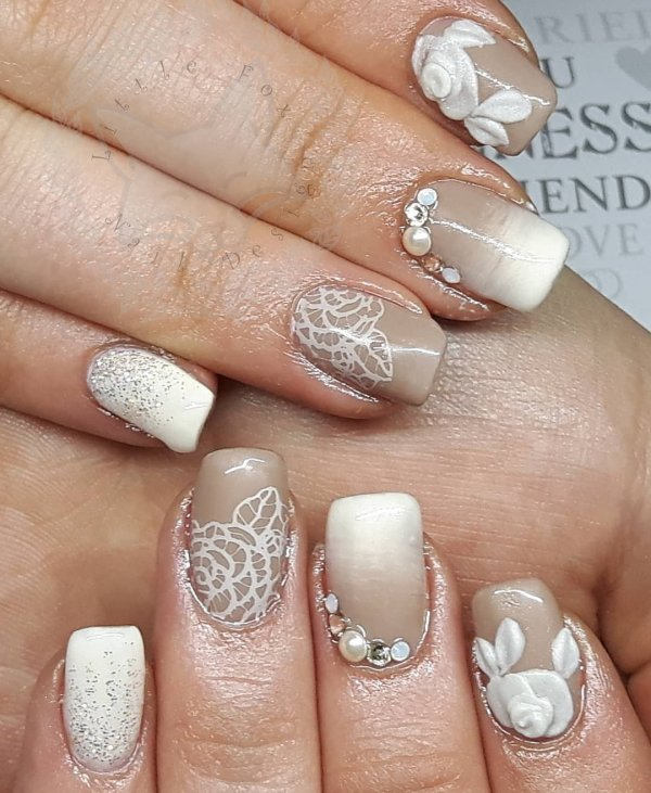 60 Mind Blowing Wedding Nail Art Designs For Beautiful Brides