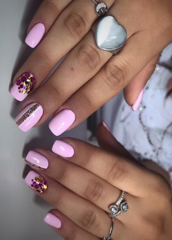 55 Alluring Glitter Nail Art Design Perfect For Every Occasion ...