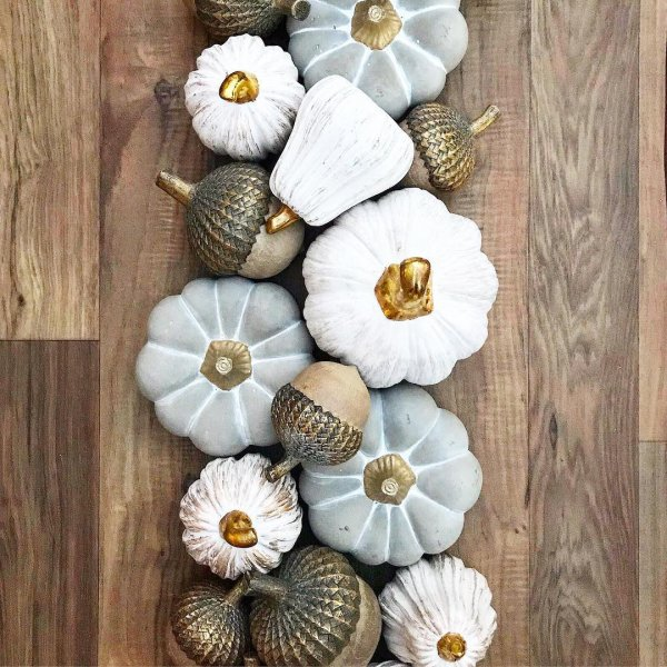 Charming pumpkin decoration idea for thanksgiving